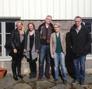 Från vänster Angela Hanson, Helena Winberg, Per Westrin, Suzanne Odeberg Wernerman, Urban Fläring